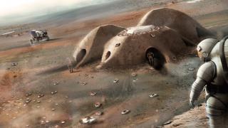 Projeto da Foster + Partners para um assentamento em Marte impresso em 3D