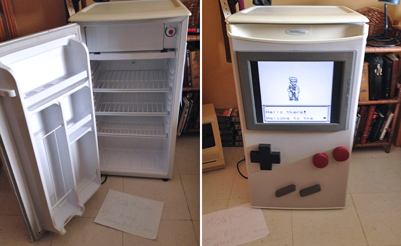Rapaz transforma refrigerador em um Game Boy gigante e jogável