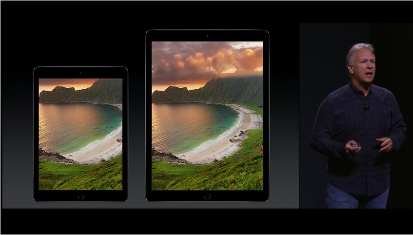 iPad Air ao lado do Pro