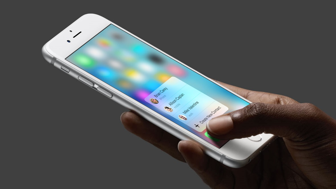 3D Touch na mao