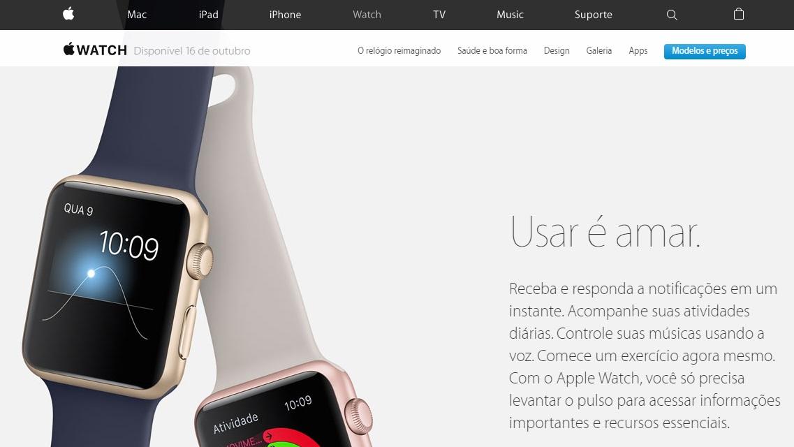 Apple Watch em 16 de outubro