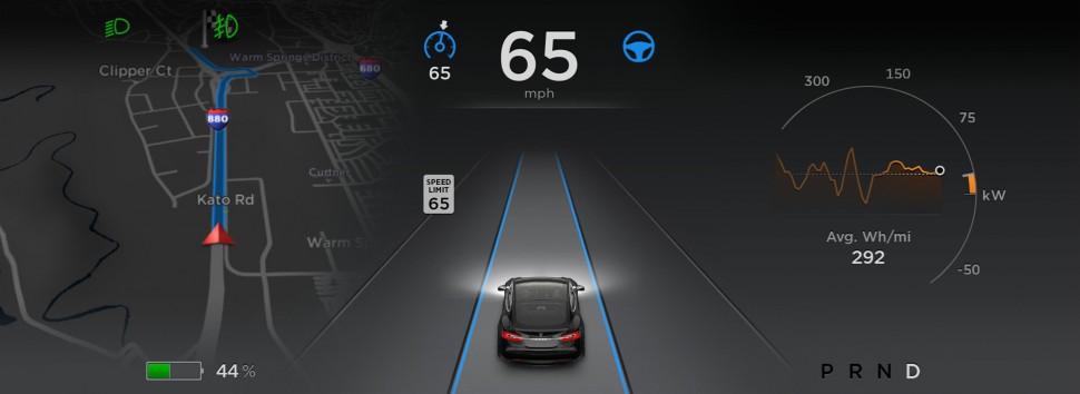 Autopilot no Tesla Model S (1)