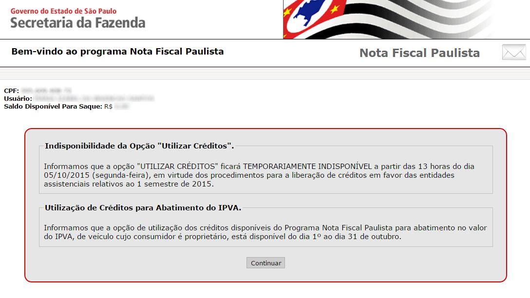 Nota Fiscal Paulista e creditos 2