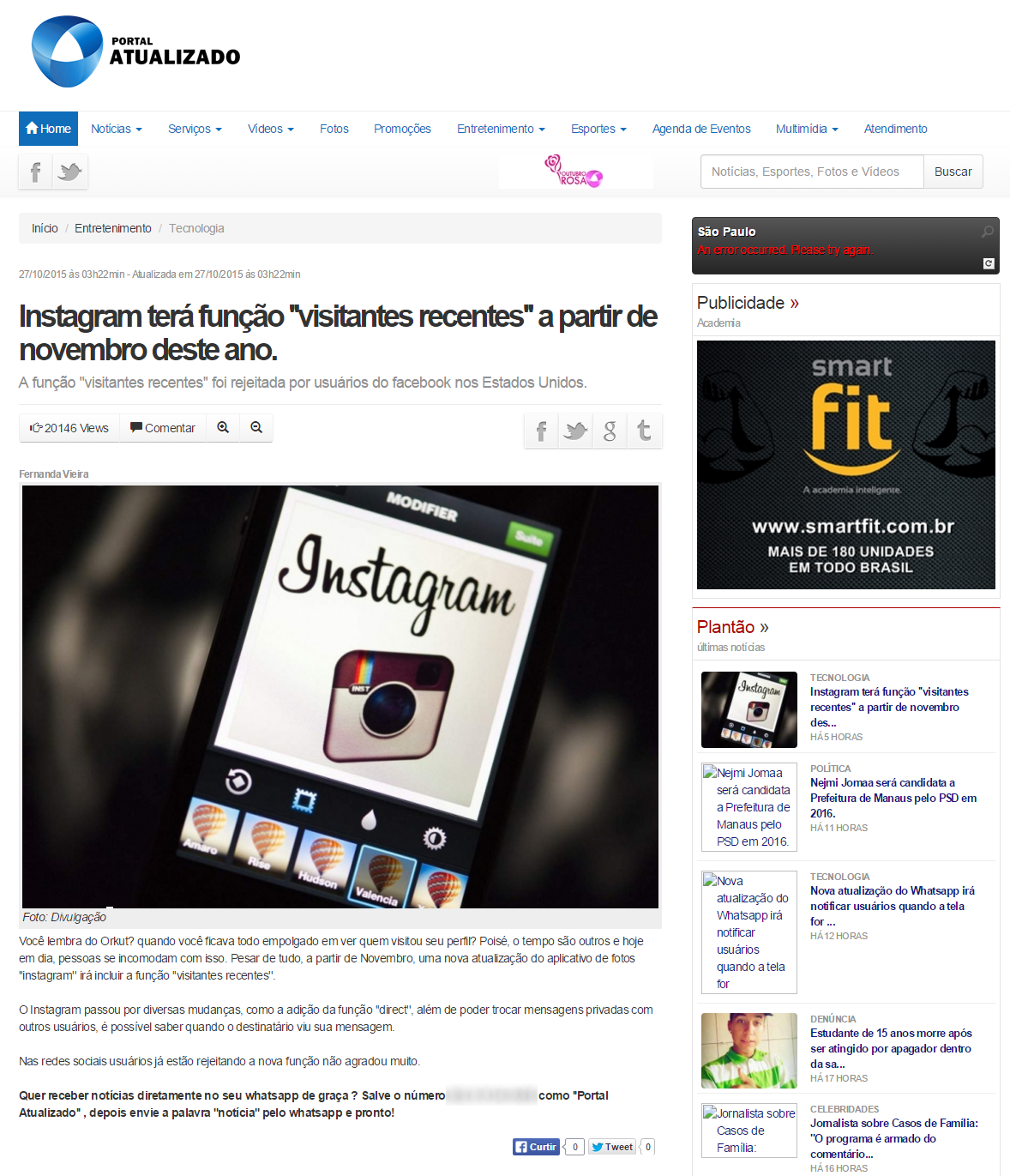 noticia falsa instagram