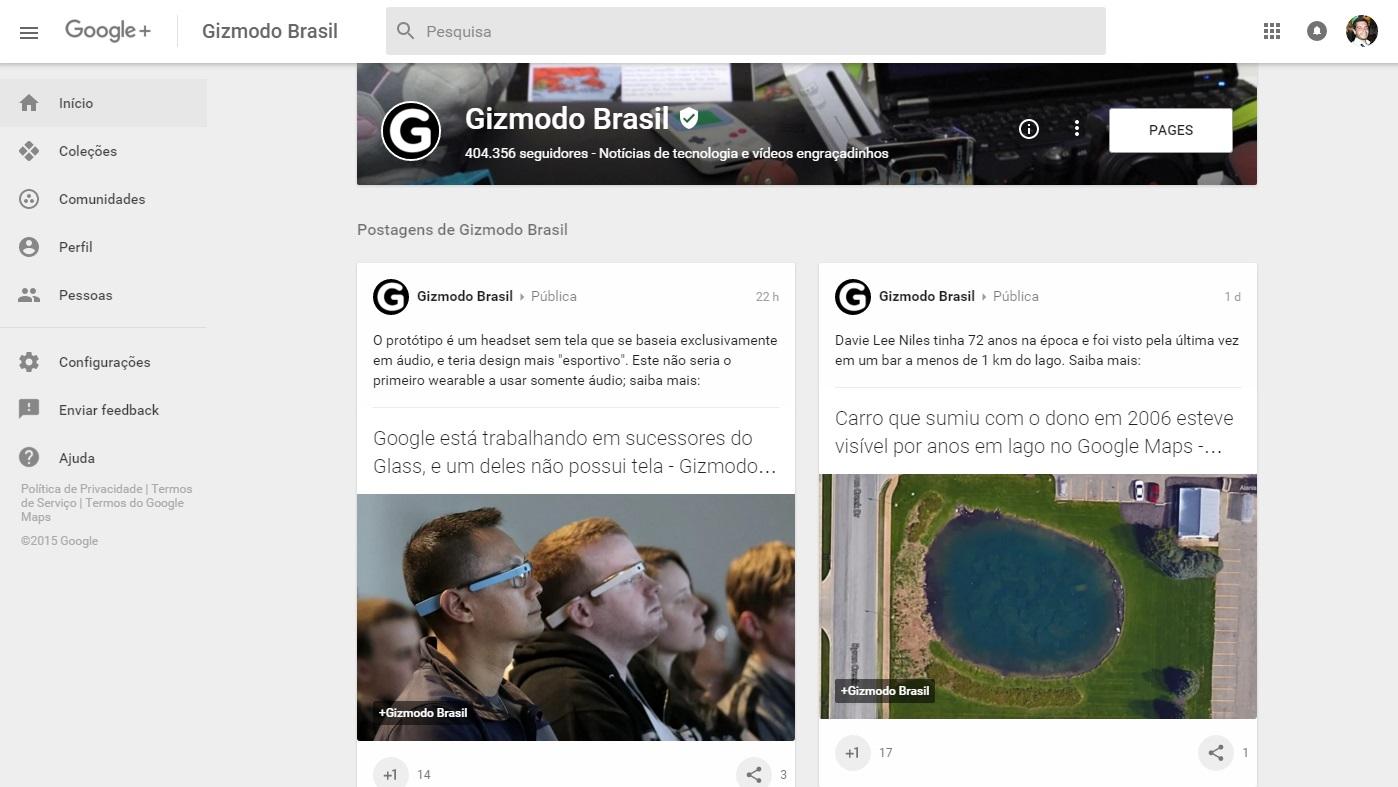 Google Plus e Gizmodo