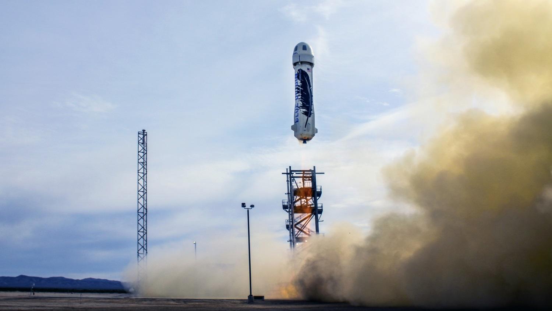 A empresa espacial do dono da Amazon fez uma aterrissagem perfeita de foguete