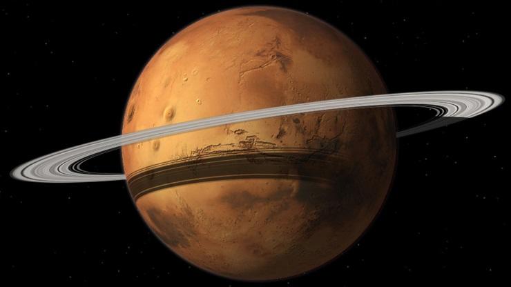 O jeito bizarro que Marte está destruindo sua própria lua