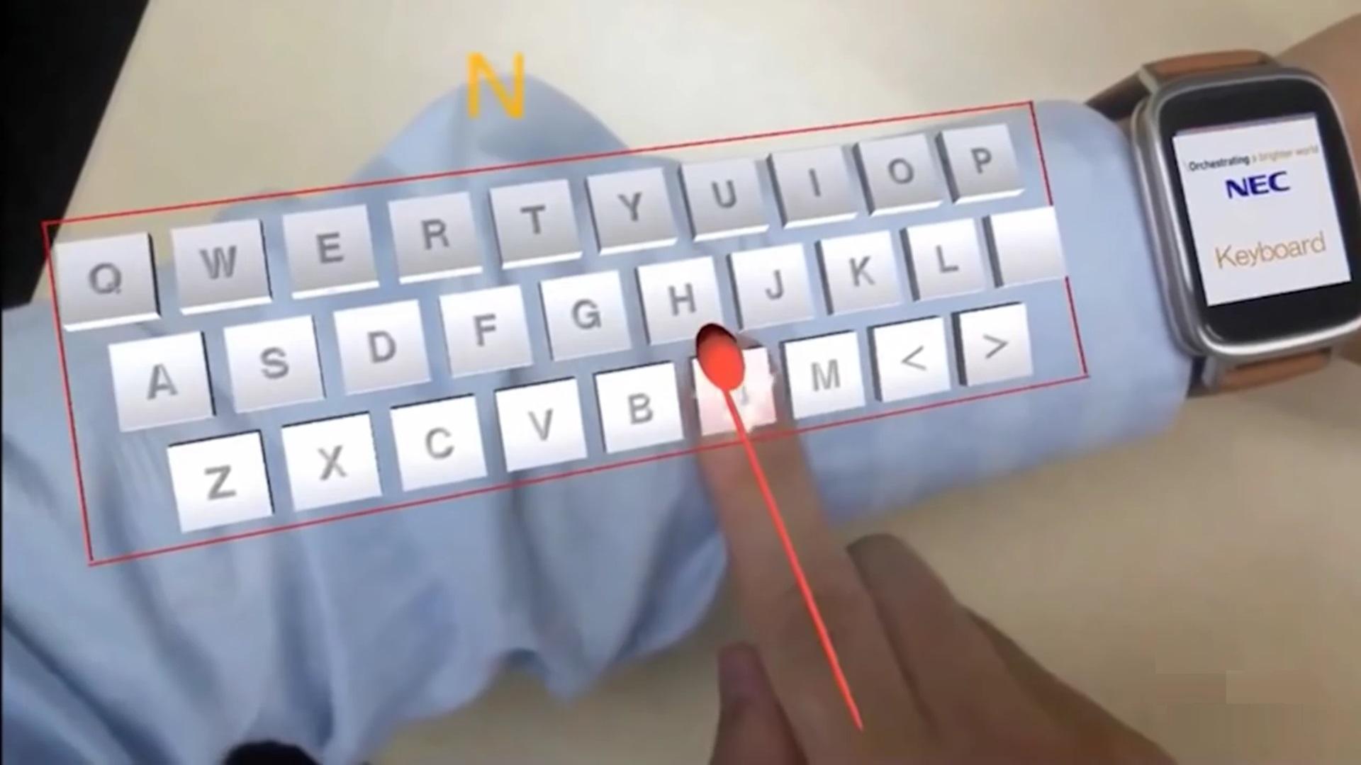 Tecnologia japonesa transforma seu braço em um teclado de realidade aumentada