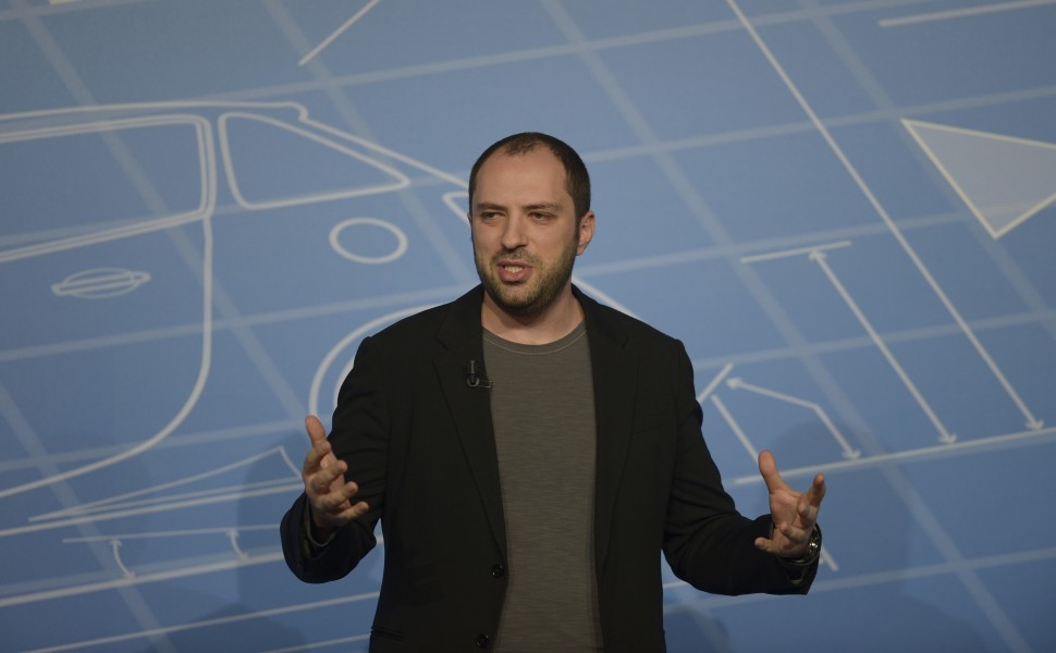 Co-founder and CEO of Whatsapp Jan Koum speaks during a conference at the Mobile World Congress, the world's largest mobile phone trade show in Barcelona, Spain, Monday, Feb. 24, 2014. Expected highlights include major product launches from Samsung and other phone makers, along with a keynote address by Facebook founder and chief executive Mark Zuckerberg. (AP Photo/Manu Fernandez)