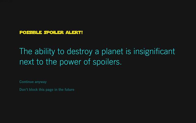 Bloquear spoiler de Star Wars (3)