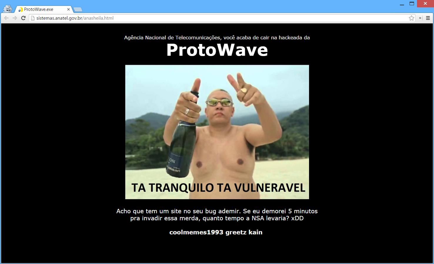 Hackers invadem site da Anatel para expor vulnerabilidade