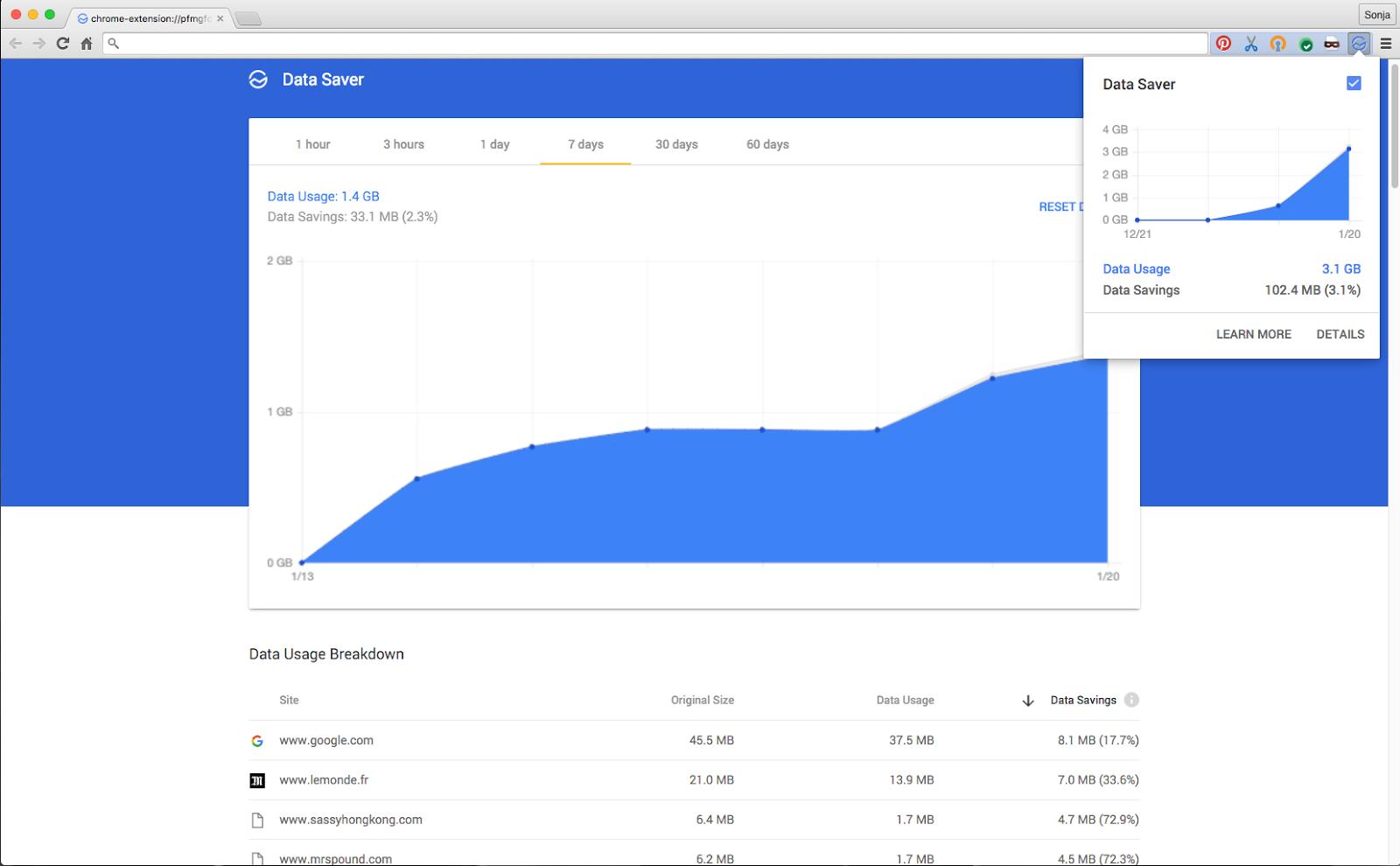 google chrome e economia de dados