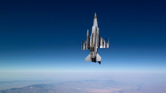 A Royal Netherlands Air Force F-16 Fighting Falcon flies a training mission over Tucson, Ariz. (U.S. Air Force photo/Master Sgt. Jeffrey Allen)