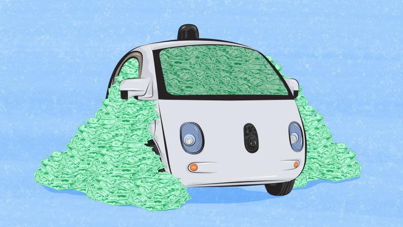 carro autonomo google dinheiro