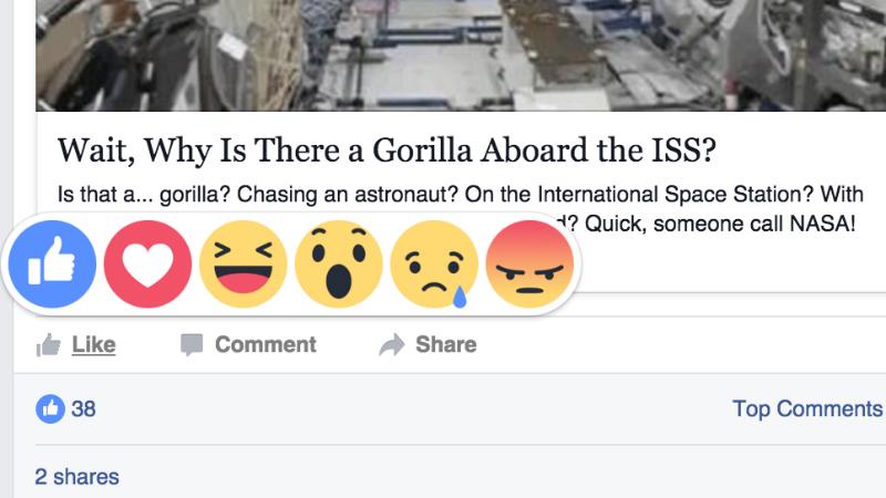 facebook reacoes