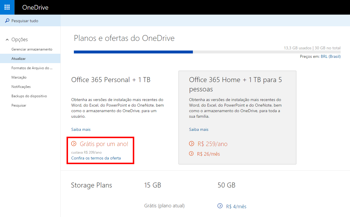 office 365 gratuito onedrive