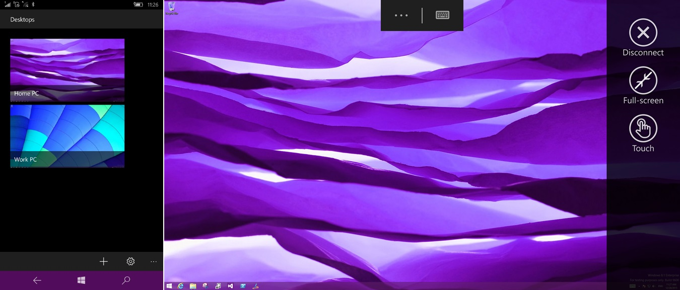remote desktop continuum