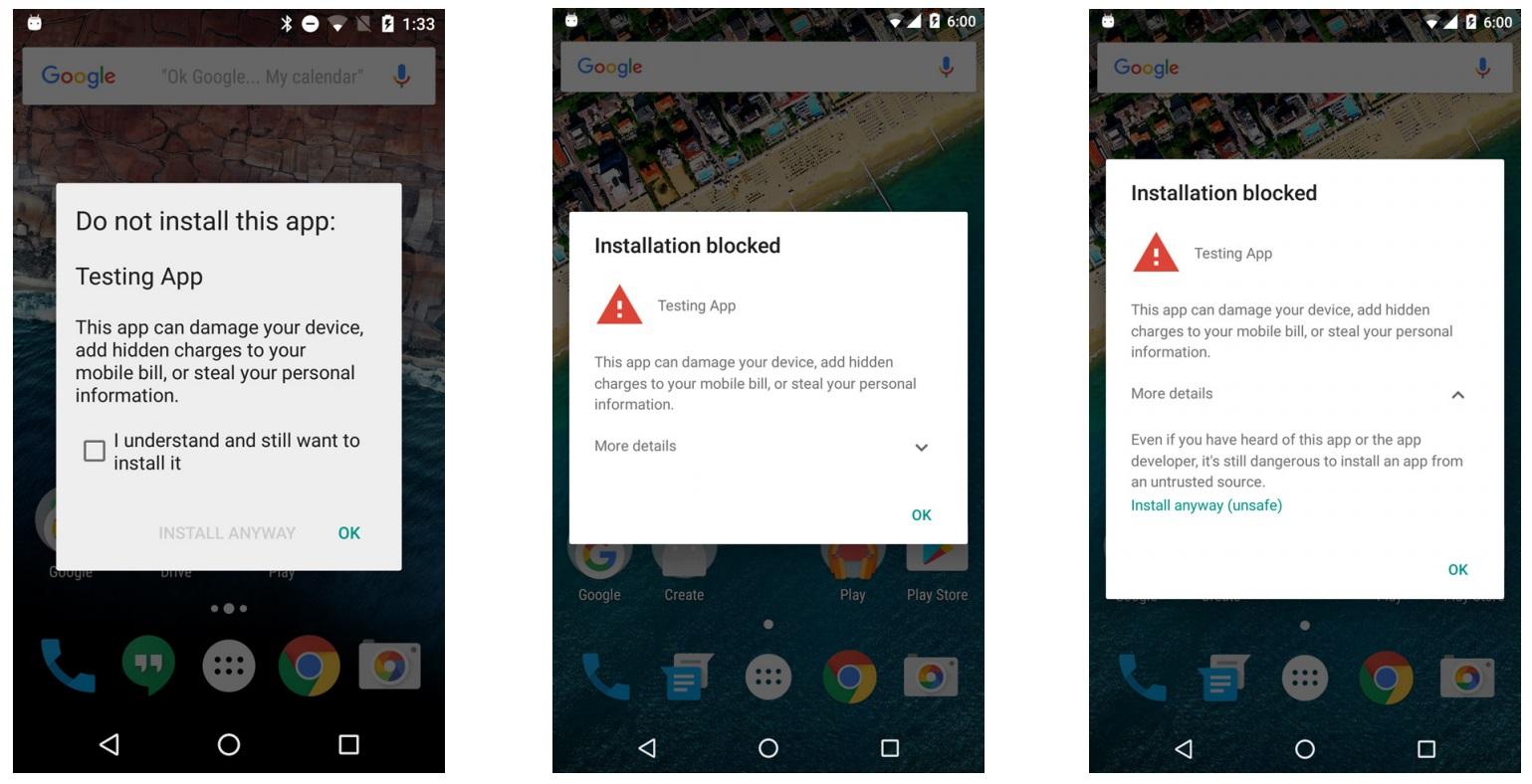 alertas seguranca android