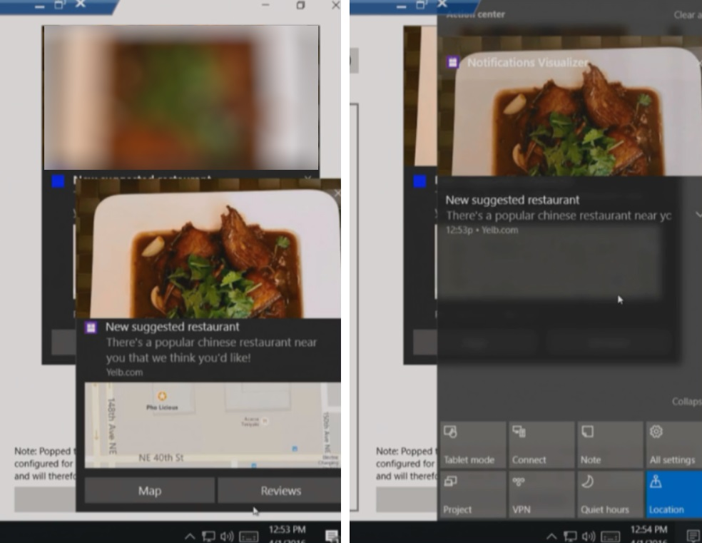 build 2016 - new notifications with image