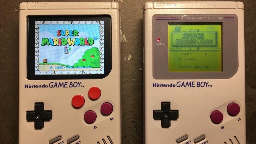 Um Game Boy clássico foi modificado para rodar praticamente qualquer jogo antigo da Nintendo