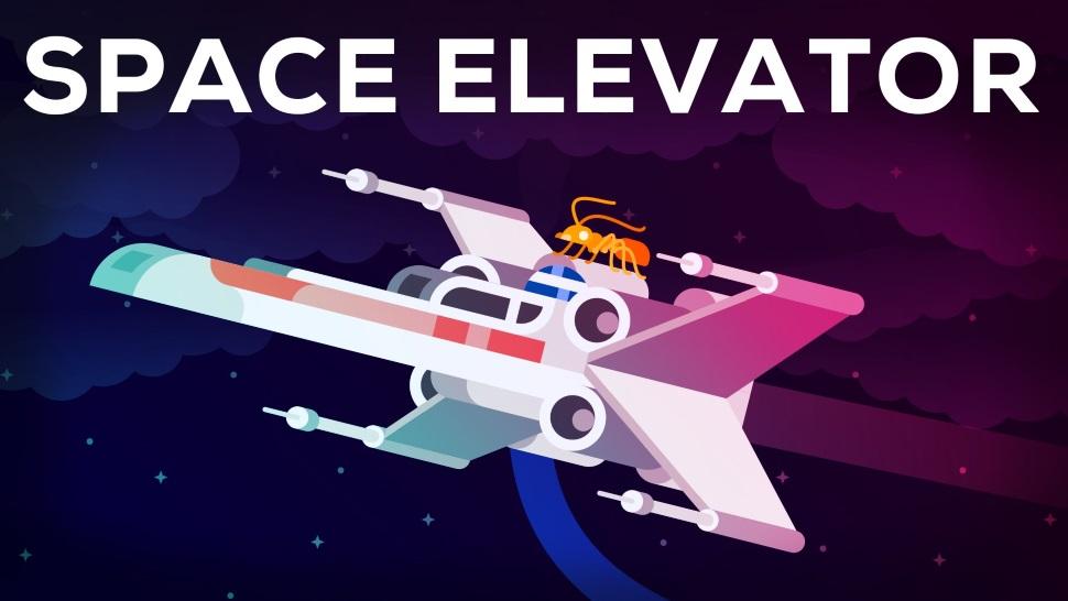 Como funcionaria um elevador espacial de verdade, e é possível construir um?