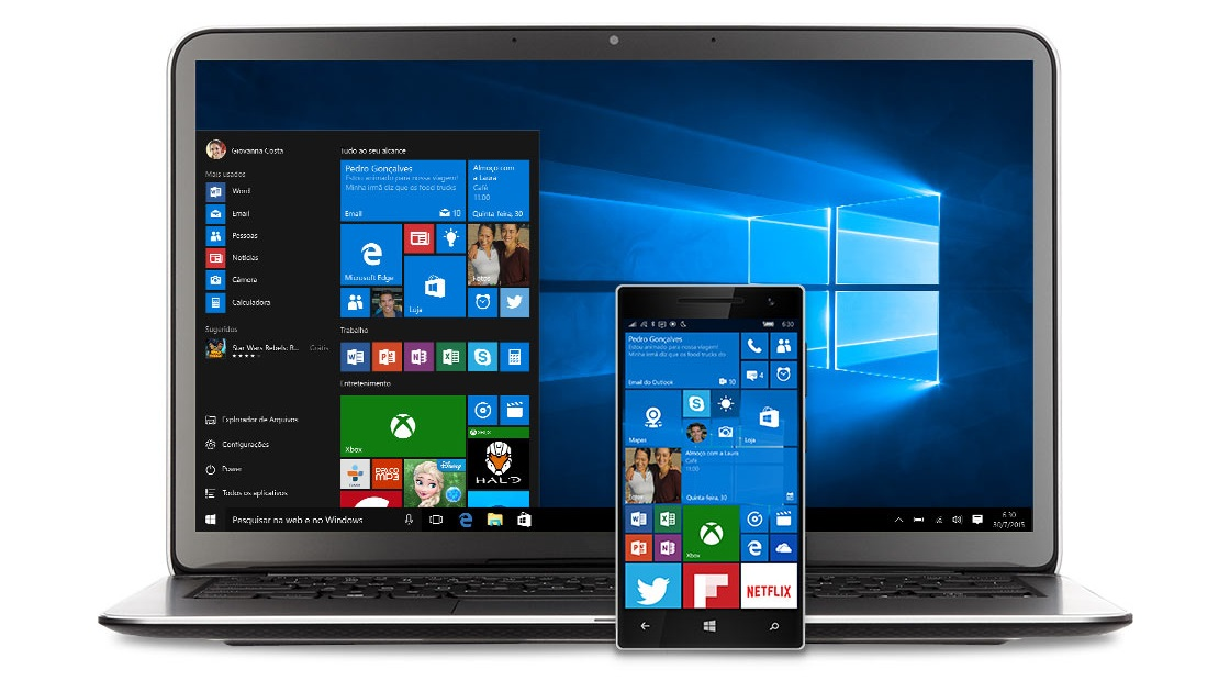 windows 10 pc e smartphone