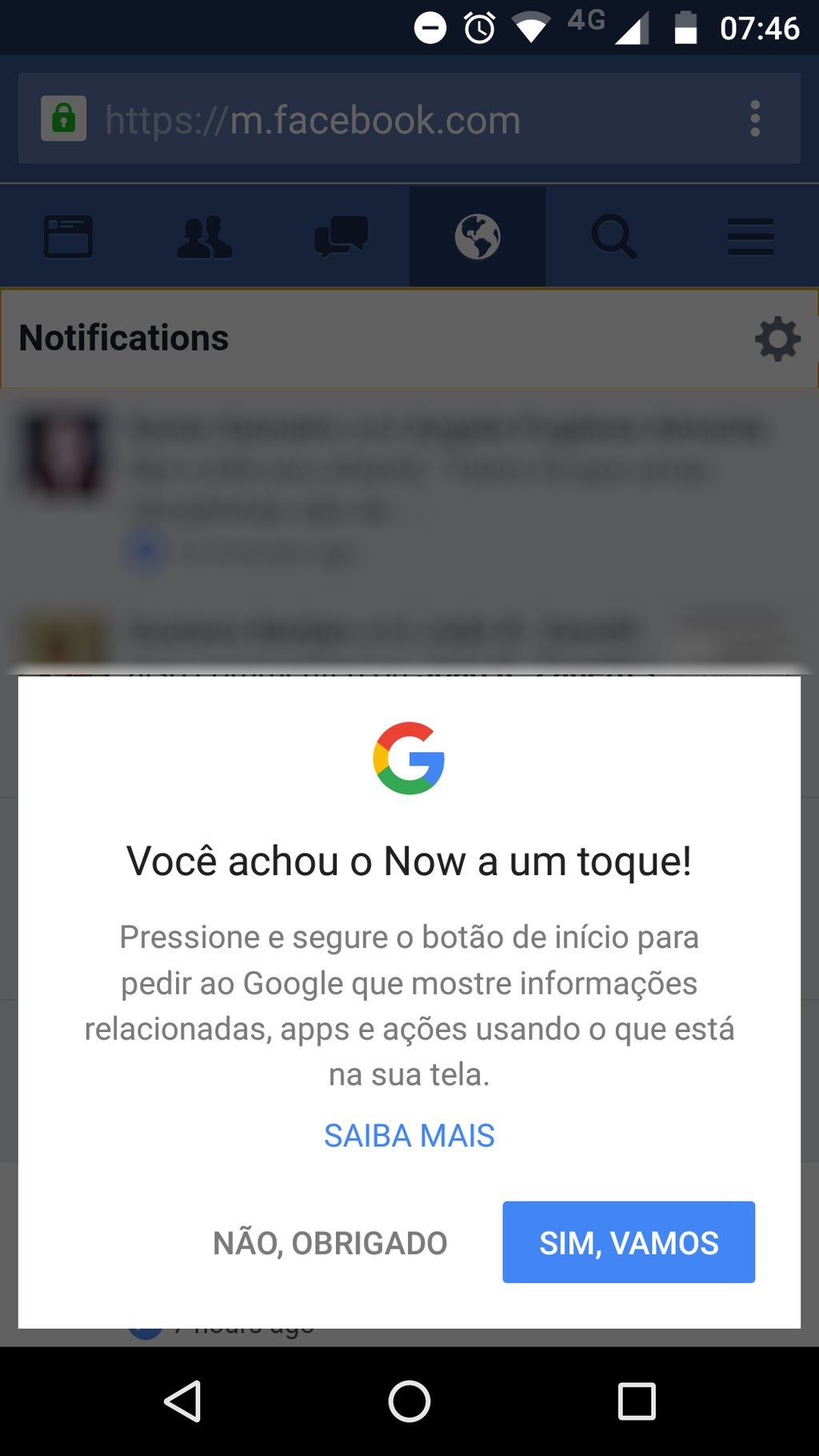 google now on tap brasil