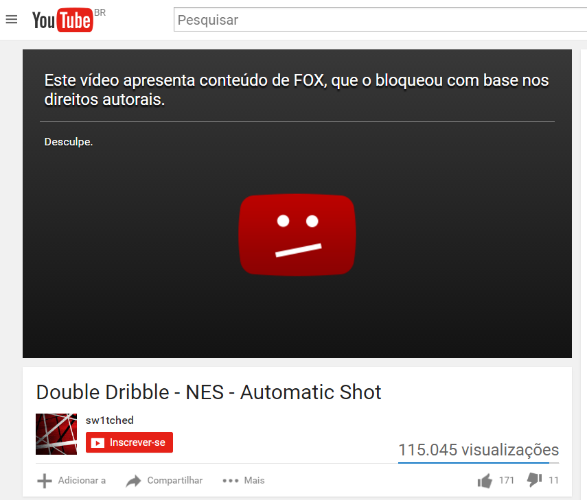 video bloqueado youtube dmca