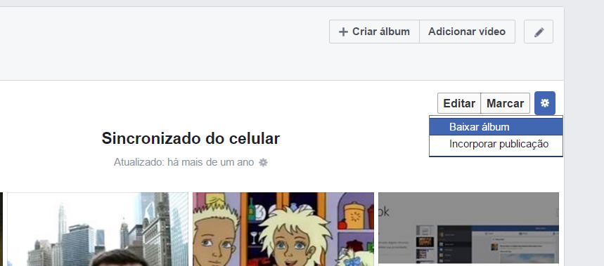 facebook baixar album