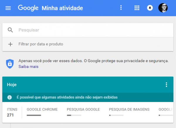 google-minha-atividade