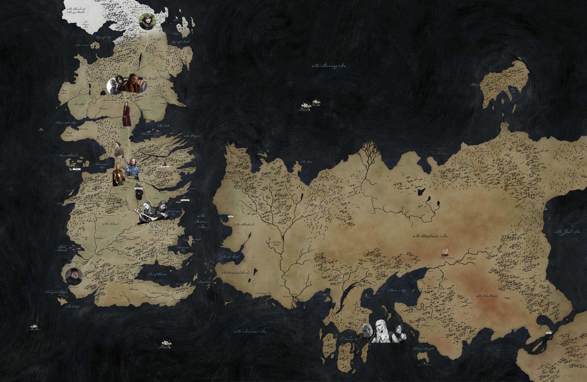 O tabuleiro de 'Game of Thrones' -