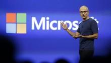Satya Nadella, CEO da Microsoft. Imagem: AP