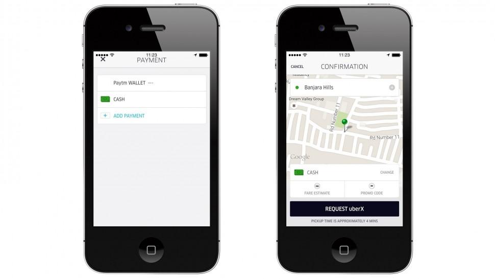 uber pagamento dinheiro