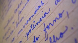 escrita a mao