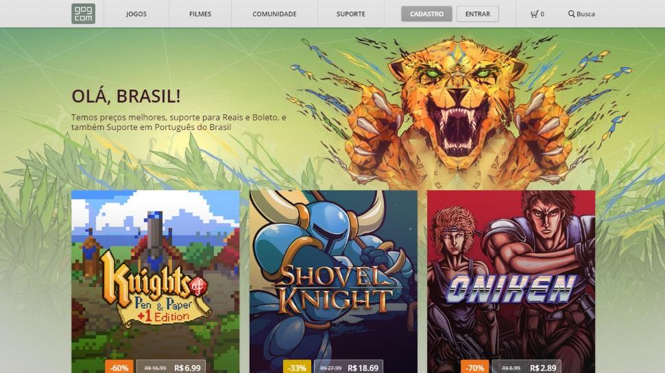 Plataforma de jogos GOG estreia no Brasil em português e com preços em reais -