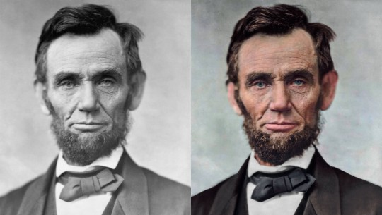 Retrato do 16° presidente dos Estados Unidos, Abraham Lincoln.