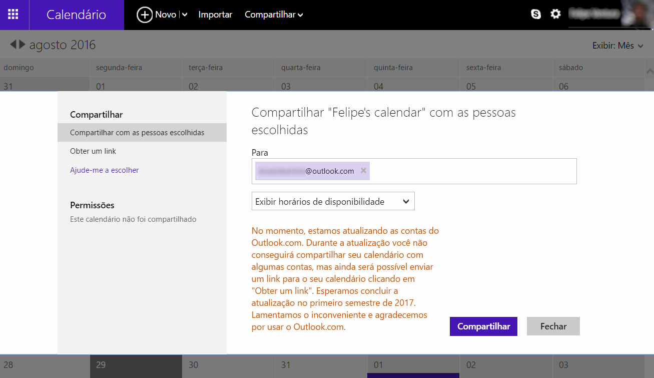 outlook com atraso 2017