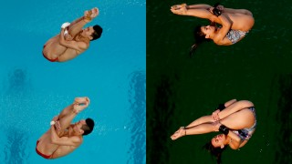 Rio Olympics Diving Green Pool
