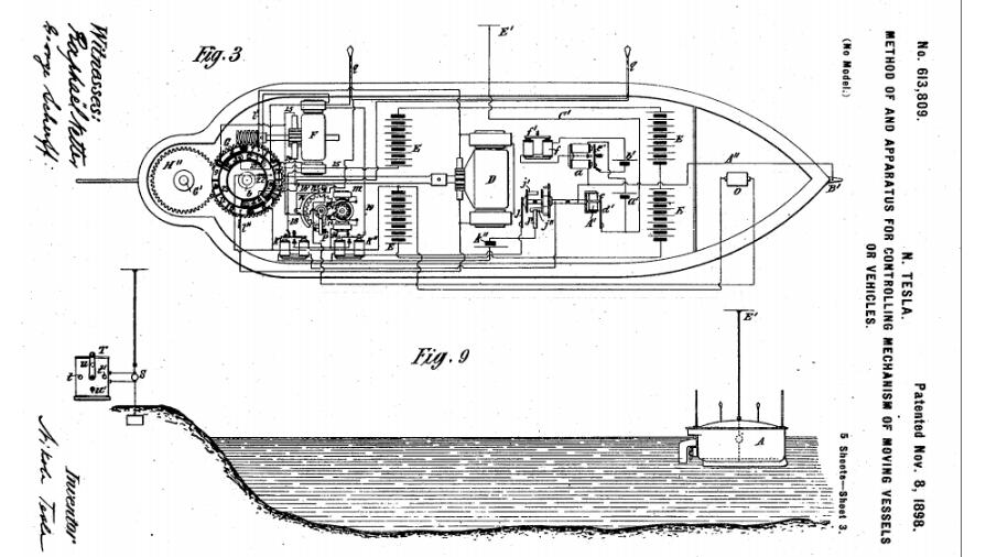 Em 1898, Nikola Tesla previa guerras com drones
