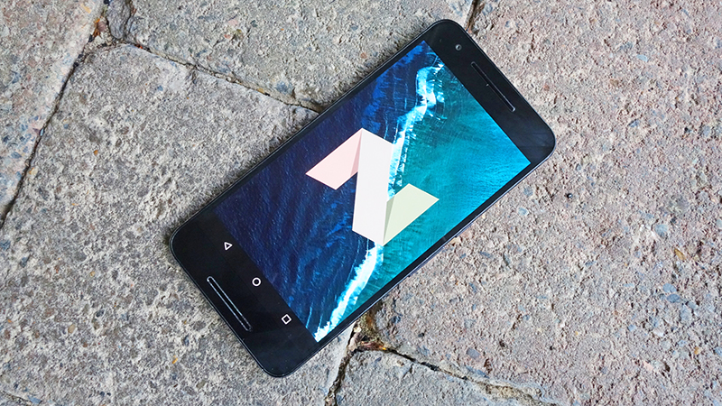 Smartphone Android versão 7.0 Nougat