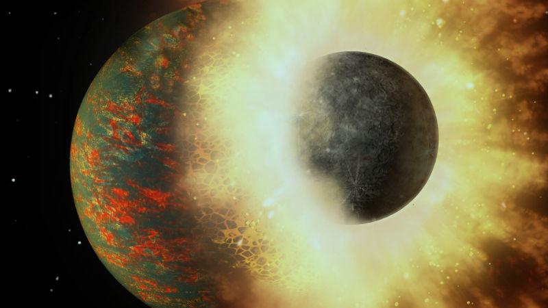 Colisão da Terra com outro planeta provavelmente deu início à vida