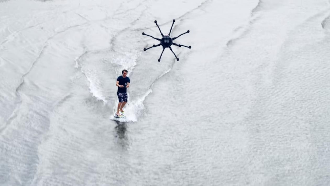 Você não precisa de ondas se estiver surfando com um drone