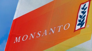 FILE - This Aug. 31, 2015 file photo shows the Monsanto logo seen at the Farm Progress Show in Decatur, Ill. German drug and chemicals company Bayer AG says it has made a $62 billion offer to buy U.S.-based crops and seeds specialist Monsanto Company. Bayer said Monday, May 23, 2016 that the all-cash offer values Monsanto shares at $122 each. (AP Photo/Seth Perlman, File)