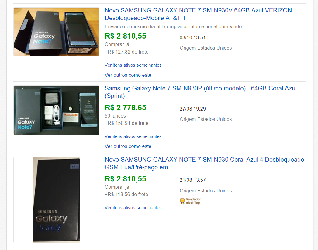 galaxy note 7 ebay