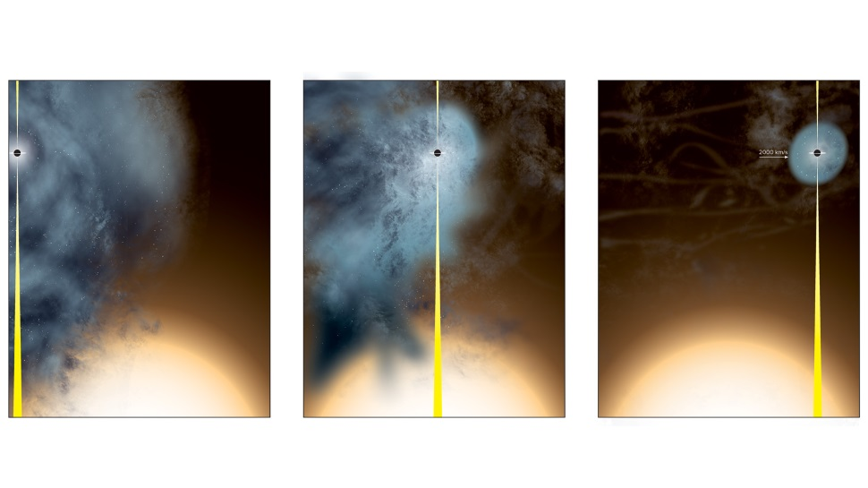 Um buraco negro solitário está gritando enquanto atravessa o universo