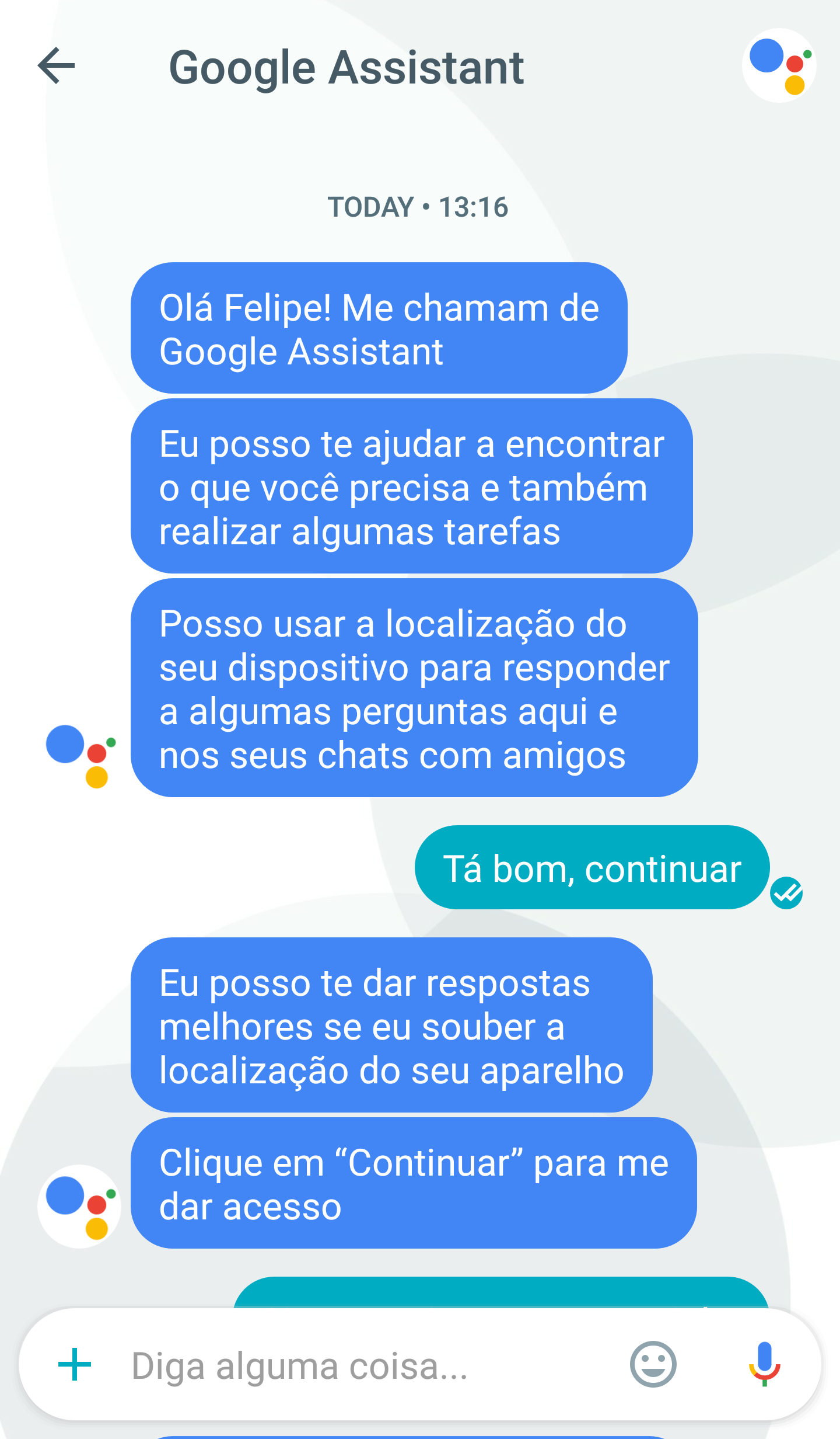 google assistant portugues