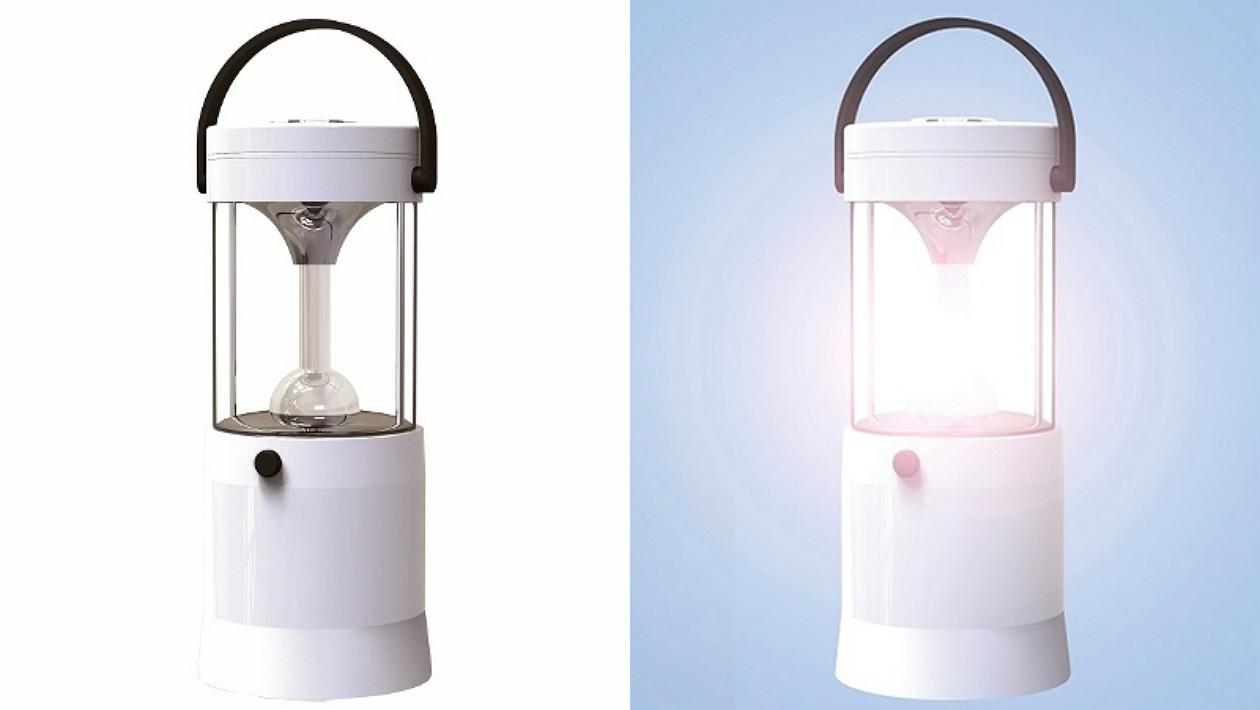 Você só precisa de água salgada para manter esta lâmpada ligada por 80 horas