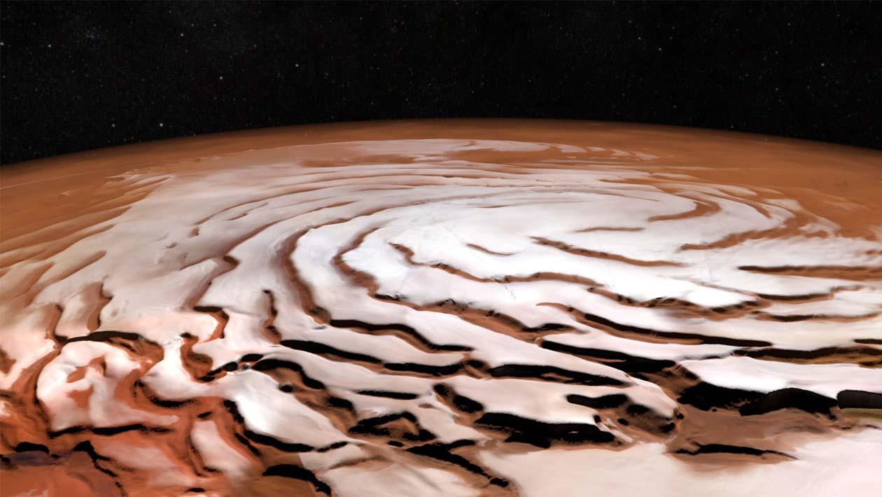 Marte passou por uma era glacial recentemente e isso pode ajudar na colonização do planeta