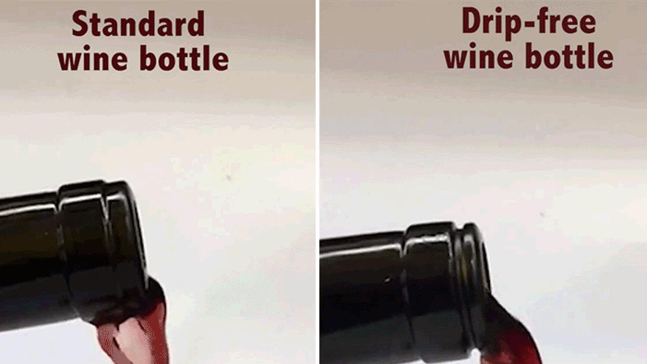 O maior avanço científico de nosso tempo é essa garrafa que não derrama vinho