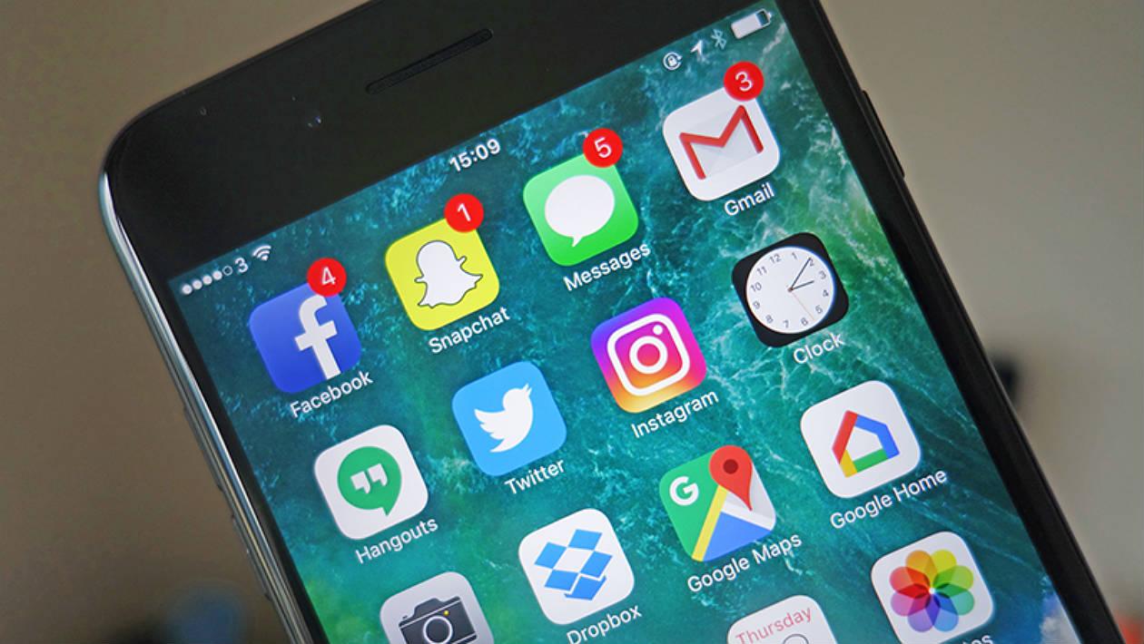 Ícones de aplicativos com balões de notificação